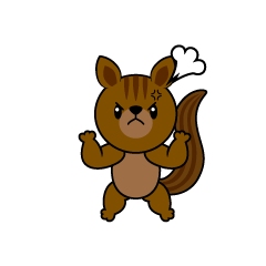 Angry Squirrel Character