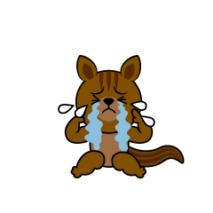 Squirrel character depressed