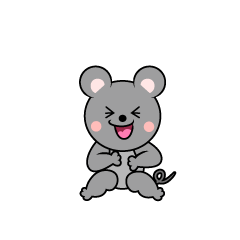 Laughing Mouse Character