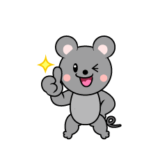 Mouse Character to be proud