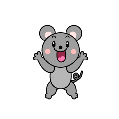 Surprised Mouse Character