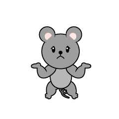 Full Stomach Mouse Character