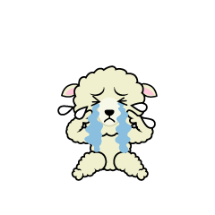 Sheep character depressed