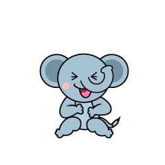 Laughing Elephant Character