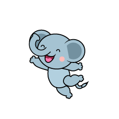 Jumping Elephant Character