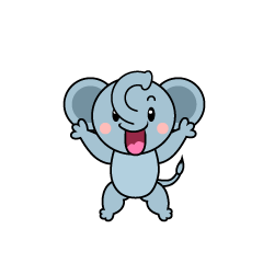 Surprised Elephant Character