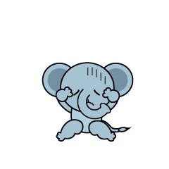 Troubled Elephant Character