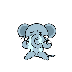 Depressed Elephant Character