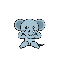 Relaxing Elephant Character