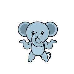 Full Stomach Elephant Character