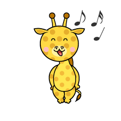 Giraffe Character with a Board