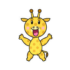 Surprised Giraffe Character