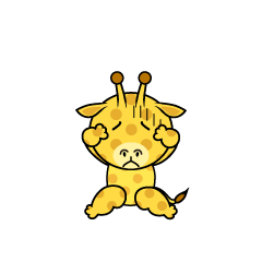 Troubled Giraffe Character