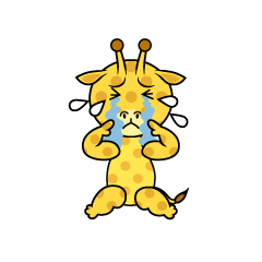 Depressed Giraffe Character