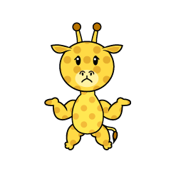 Full Stomach Giraffe Character