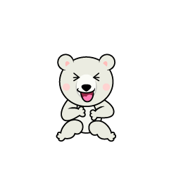 Laughing Polar Bear Character