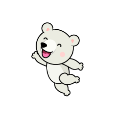 Jumping Polar Bear Character