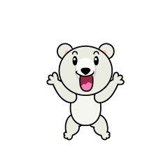 Shout Polar Bear Character
