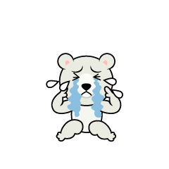 Depressed Polar Bear Character