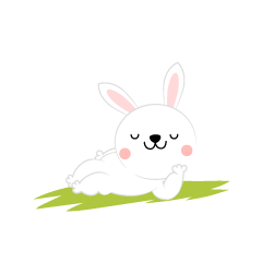Drowsy rabbit