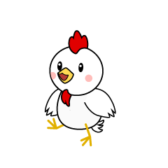 Talking Chicken Character