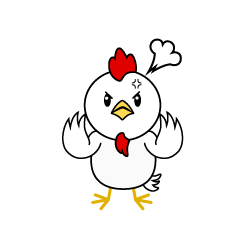 Angry Chicken Character