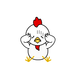 Troubled Chicken Character