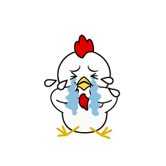 Depressed Chicken Character
