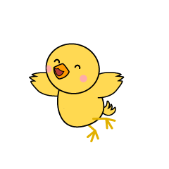 Jumping Chick Character