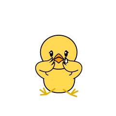 Relaxing Chick Character