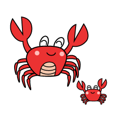 Crab Character Parent and Child