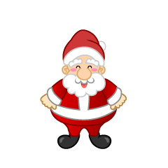 Smiley Santa Claus character