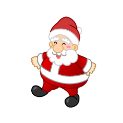 Walking Santa Character