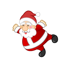 Flying Santa Character