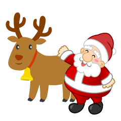 Santa character who takes care of reindeer