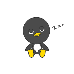 Dozing penguin
