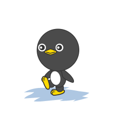Walking penguin character