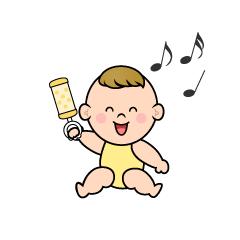 泣く赤ちゃんキャラの無料イラスト素材イラストイメージ