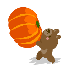 Pumpkin and bear