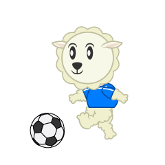 A sheep to play football