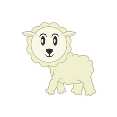 A walking sheep character