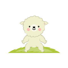 Sitting cute sheep